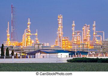 olieraffinaderij, plant