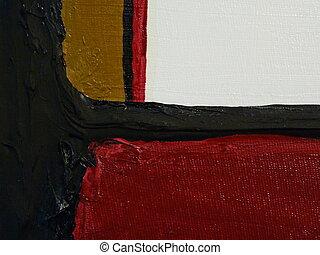 olieverfschilderij, rood, sterke