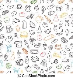olik, elementara, färg, seamless, bakgrund., hand-drawn, mat, doodles, lineart