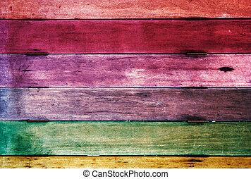 olik, färgrik, ved, bakgrund