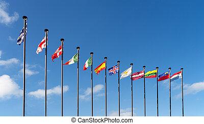 olik, flaggan, länder