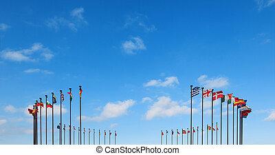 olik, flaggan, land