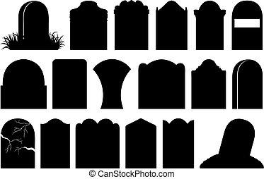 olik, halloween, illustration, gravestones