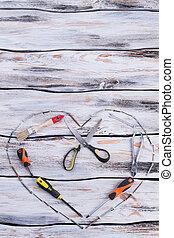 olik, tools., pappor dag, komposition