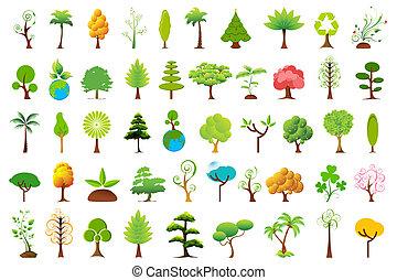 olik, träd