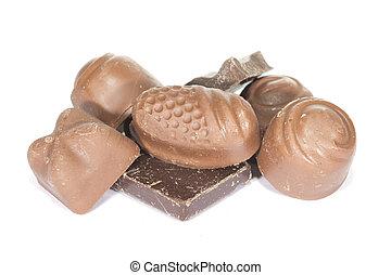 olika, kollektion, choklad