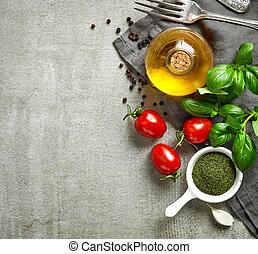 olika, mat, ingredienser