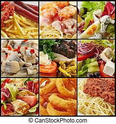 olika, mat, kollektion