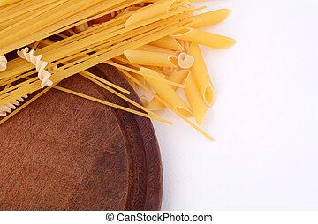 olika, slagen, av, pasta