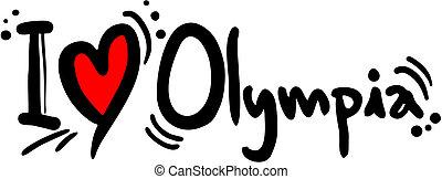 olimpia, amore
