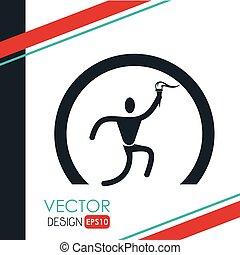 olimpic torch design, vector illustration eps10 graphic