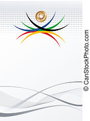 olimpico, oro, astratto, giochi, fondo, medaglia