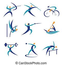olimpijski, lekkoatletyka, ikony