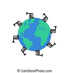 olio, benzina, petrolio, production., pianeta, pompare cricco, reserves., terra, mondo, station.
