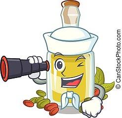 olio, binoculare, carattere, pistacchio, marinaio, bottiglia