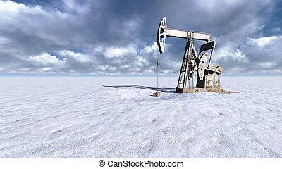 olio, campo neve