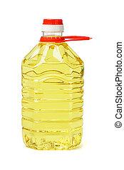 olio, cottura, bottiglia, plastica