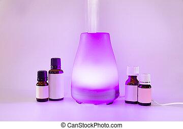 olio, essenziale, diffusore