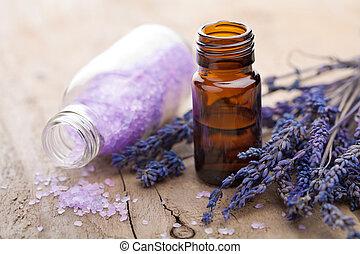 olio essenziale, e, lavanda, fiori