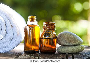 olio, naturale, cosmetica, massaggio