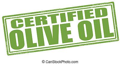 olio oliva, certificato