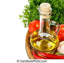 olio oliva, e, verdura