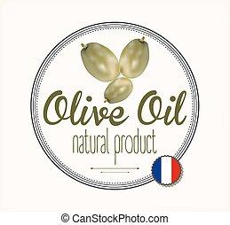 olio oliva, etichetta, francia