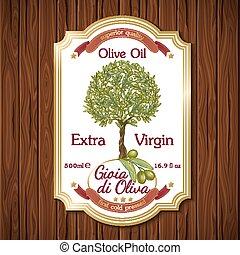 olio oliva, etichetta