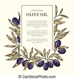 olio oliva, sagoma, etichetta