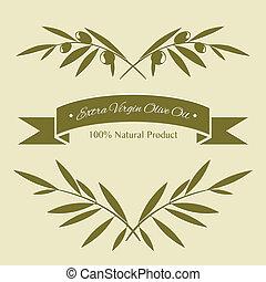 oliv, silhuett, grenverk