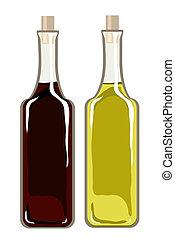 oliva, aceto, balsamic, olio