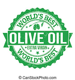 oliva, francobollo, olio