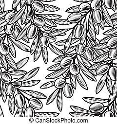 oliva, seamless, fondo