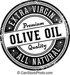 oliva, vendemmia, olio, etichetta, francobollo