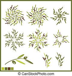 olive, éléments