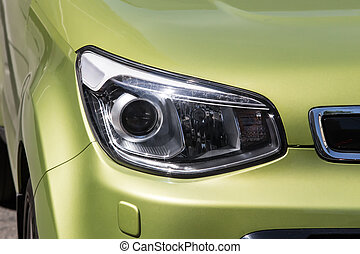 olive, auto, scheinwerfer, neu