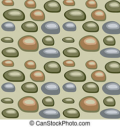 Olive background with stones, vector