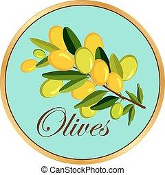 Olive branch badge