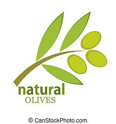 Olive branch logo. Vector illustration