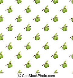 Olive branch pattern, cartoon style