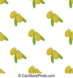 Olive branch seamless pattern. Cosmetics, medical plant. Natural vegetarian food