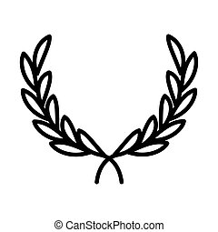 olive branches peace emblem, human rights day, line icon design