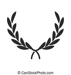 olive branches peace emblem, human rights day, silhouette icon design