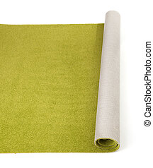 olive carpet on white background