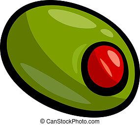 olive clip art cartoon illustration - Cartoon Illustration...