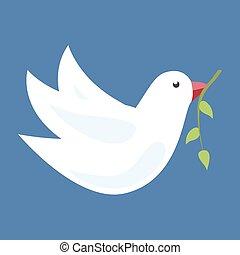 olive, duif, tak