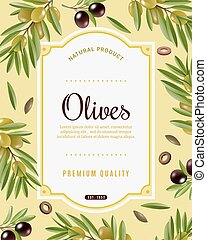 Olive Frame Background