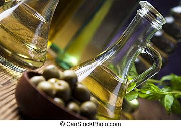 olive, frisch, oel, oliven