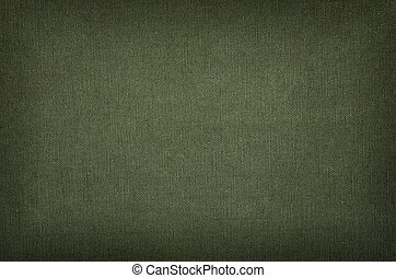 Olive green cotton texture with vignette