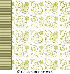Olive green retro grunge background